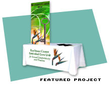 Trade Show Table Cloth for the Extended Care Unit of the KeyStone Center