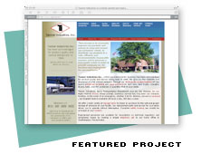 Corporate Web Site Design for Tanner Industries
