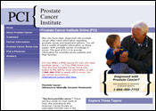 Medical Website for Prostate Cancer Institute