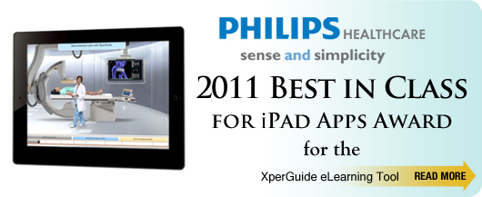 2011 Best in Class for iPad Apps Award for the Philips Xperguide eLearning Tool
