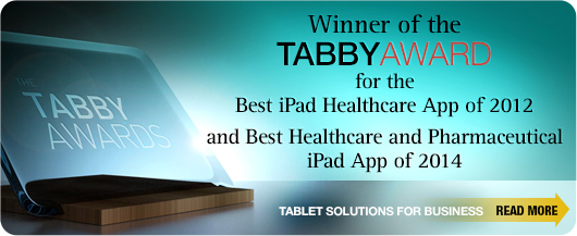 Winner of the Tabby Award for Best iPad Healthcare App of 2012